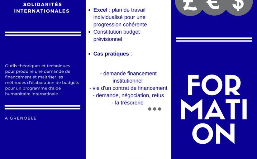 Formation Gestion financière de projet de solidarité internationale